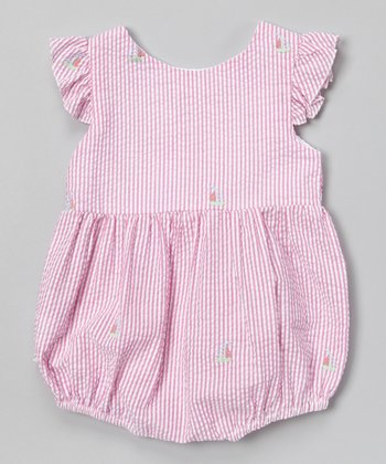 Pink Stripe Sailboat Bubble Bodysuit - Infant