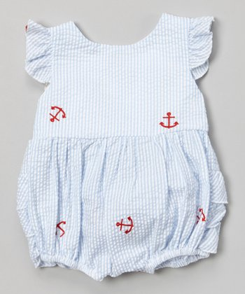 Blue Stripe Anchor Bubble Bodysuit - Infant