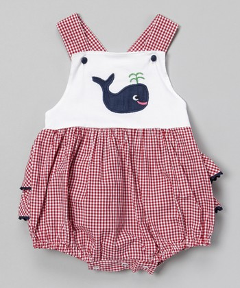 Red Gingham Whale Bodysuit - Infant