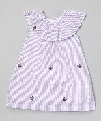 Pink Stripe Ice Cream Yoke Dress - Infant & Toddler