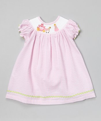 Pink Stripe Cinderella Bishop Dress - Infant & Toddler