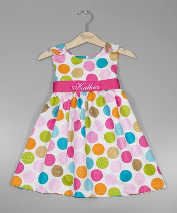 Pink Polka Dot Personalized Sash Jumper - Infant, Toddler & Girls