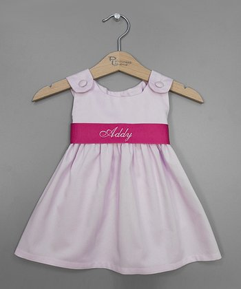 Baby Pink Personalized Sash Jumper - Infant, Toddler & Girls