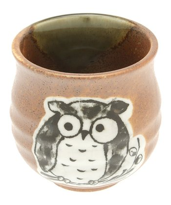 Brown Oribe Owl Teacup