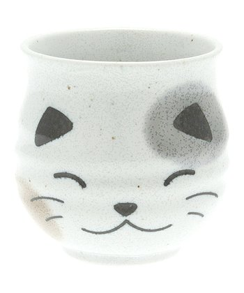 White Calico Cat Teacup