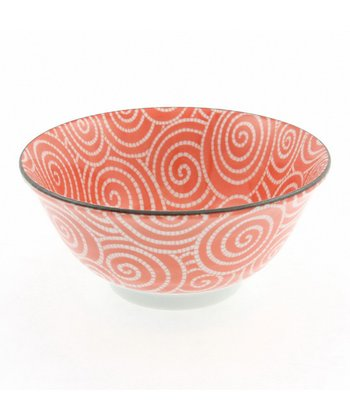 Coral Cloud Swirls Medium Bowl
