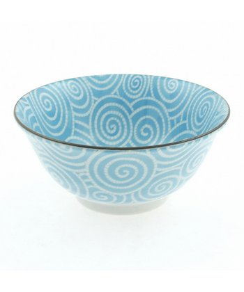 Sky Blue Cloud Swirls Medium Bowl