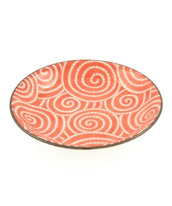 Coral Cloud Swirls Plate