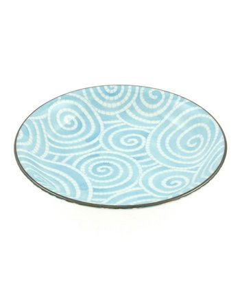 Sky Blue Cloud Swirls Plate
