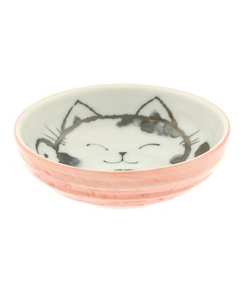 Coral Red Cat Sauce Dish
