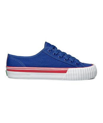 Blue & Red Center Lo Sneaker - Women & Men