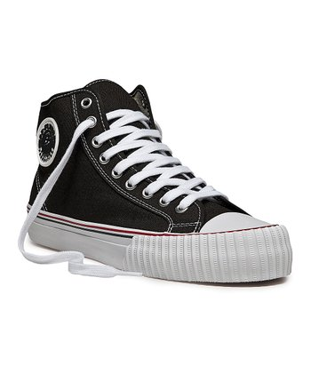 Black & White Center Hi Sneaker - Women & Men