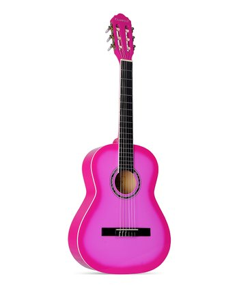 "Pink 36"" Six-String Guitar"