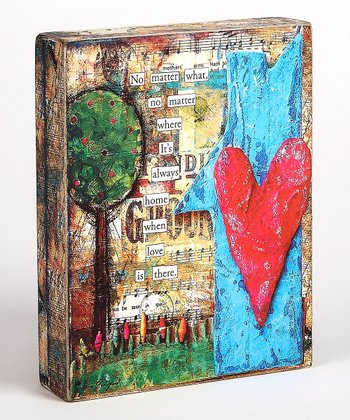 Blue & Red Heart 'No Matter What' Box Sign