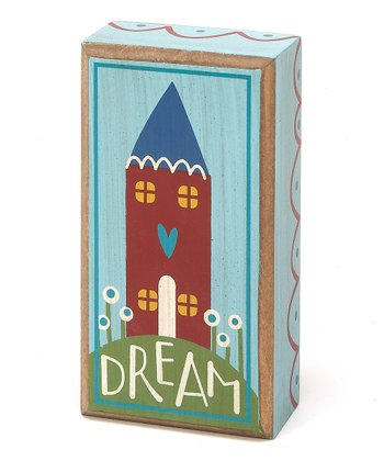Blue & Red 'Dream' House Box Sign