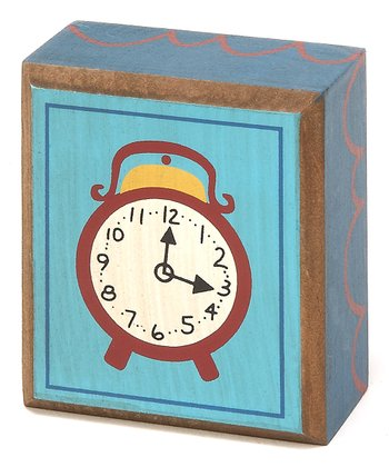 Blue & Crème Clock Box Sign