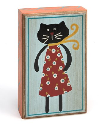 Red & Black 'Cat Woman' Box Sign