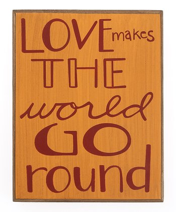 Orange & Red 'World Go Round' Box Sign