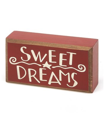 Red & Crème 'Sweet Dreams' Box Sign