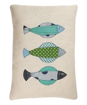 Blue & Green Fish Pillow