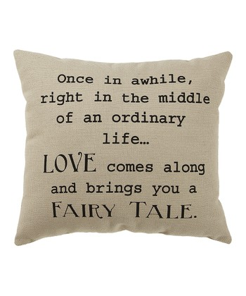 White 'Fairy Tale' Pillow
