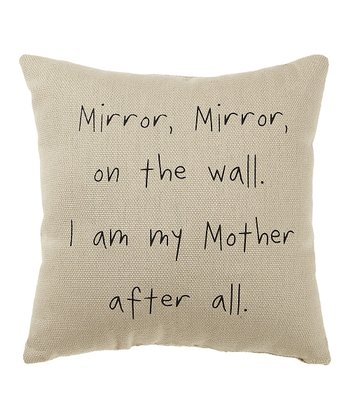 White 'Mirror Mirror' Pillow