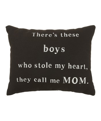 Black 'There's These Boys' Pillow