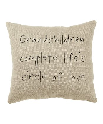 White 'Grandchildren' Pillow