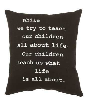 Black 'Teach Our Children' Pillow