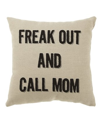 White 'Freak Out' Pillow