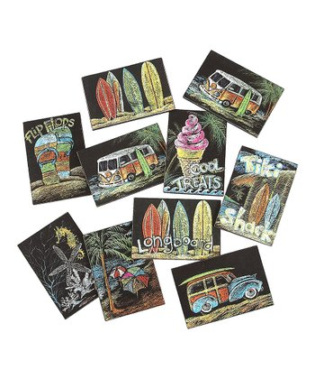 Tiki Surf Shack Magnet Set