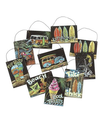 Tiki Surf Shack Ornament Set