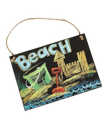 'Beach' Sandcastle Sign