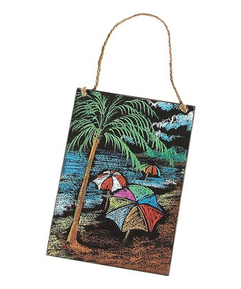 Beach & Umbrella Sign