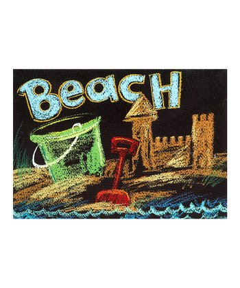 'Beach' Sandcastle Canvas Wall Art