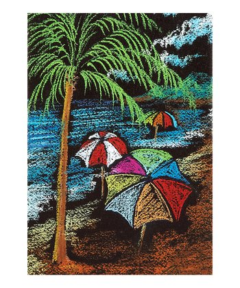 Beach & Umbrellas Canvas Wall Art