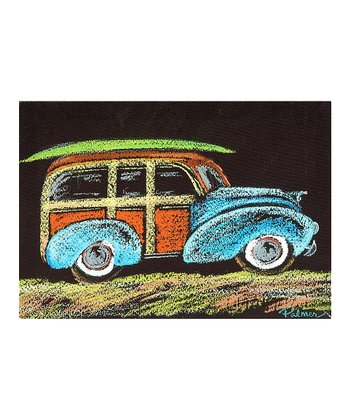 Beach Car Canvas Wall Art