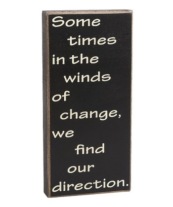'Winds of Change' Box Sign