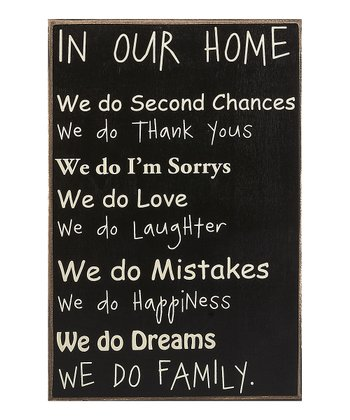 'In Our Home' Sign