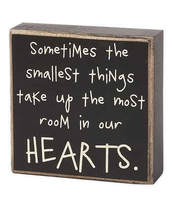 'Smallest Things' Box Sign