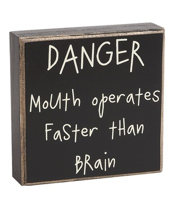 'Danger' Box Sign