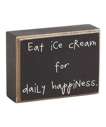 'Ice Cream' Box Sign