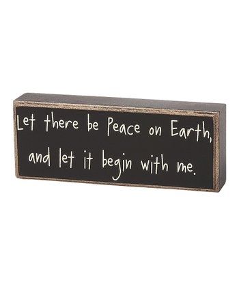 'Peace on Earth' Box Sign