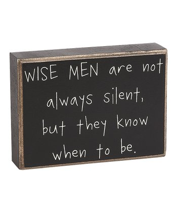 'Wise Men' Box Sign