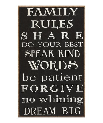 'Family Rules' Sign