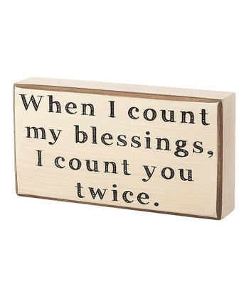 'Count My Blessings' Box Sign
