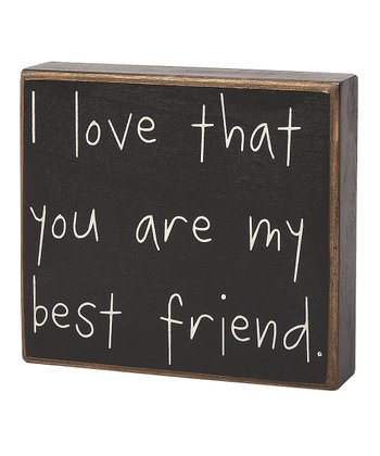 'My Best Friend' Box Sign