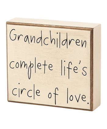 'Grandchildren Complete' Box Sign