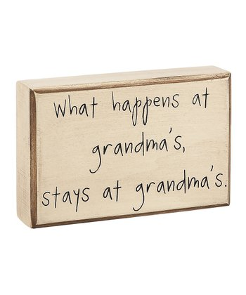 'Stays at Grandma's' Box Sign
