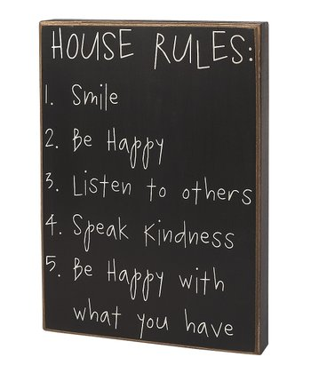 'House Rules' Box Sign